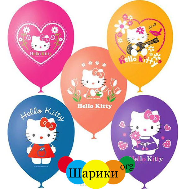 шар-Hello-Kitty-25шт